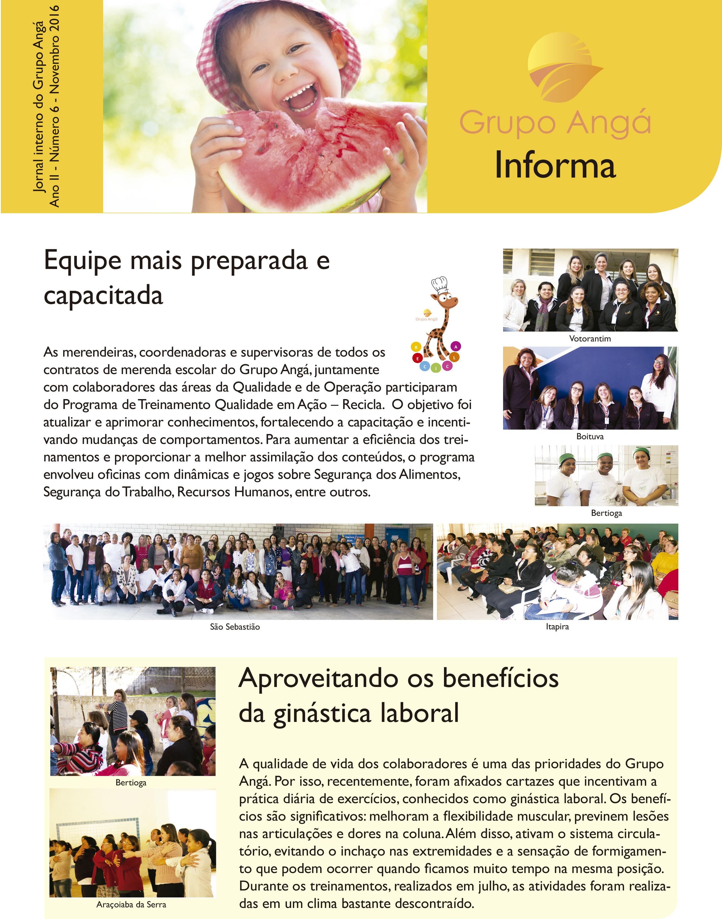 CAPA JORNAL GRUPO ANGÁ 6ª EDIÇÃO