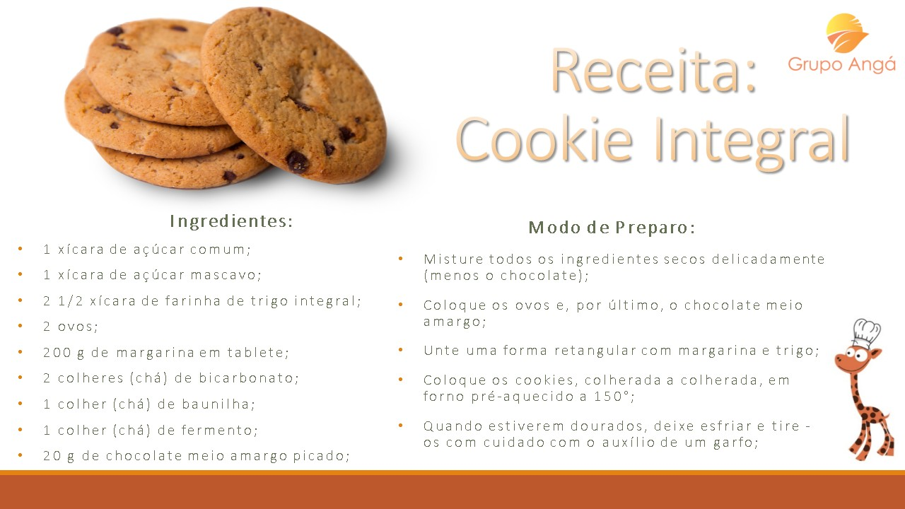 receita cookie integral